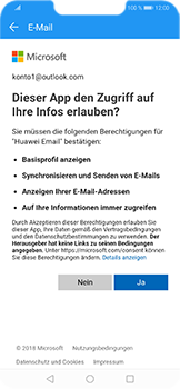 Huawei Honor Play - E-Mail - Konto einrichten (outlook) - Schritt 8