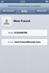 Apple iPhone 4S - MMS - Erstellen und senden - Schritt 8