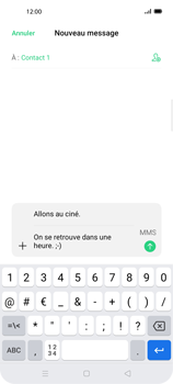 Oppo Find X2 Lite - Contact, Appels, SMS/MMS - Envoyer un MMS - Étape 13