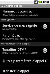 LG GW620 - Messagerie vocale - configuration manuelle - Étape 6