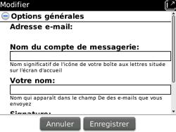 BlackBerry 9300 Curve 3G - E-mail - Configuration manuelle - Étape 14