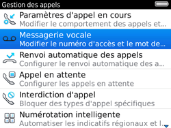 BlackBerry 9780 Bold - Messagerie vocale - Configuration manuelle - Étape 5
