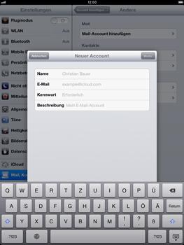 Apple iPad mini - E-Mail - Manuelle Konfiguration - Schritt 7