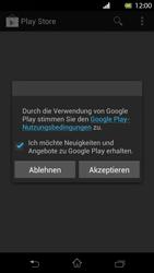 Sony Xperia T - Apps - Einrichten des App Stores - Schritt 18
