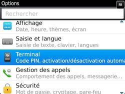 BlackBerry 9720 - Sécuriser votre mobile - Personnaliser le code PIN de votre carte SIM - Étape 4