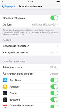 Apple iPhone 6 Plus - iOS 11 - Internet et roaming de données - Comment vérifier que la connexion des données est activée - Étape 5