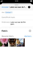Apple iphone-se-met-ios-13-model-a1723 - E-mail - Hoe te versturen - Stap 11