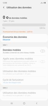 Samsung Galaxy A71 - Internet et connexion - Désactiver la connexion Internet - Étape 7