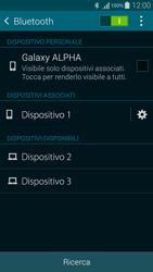 Samsung G850F Galaxy Alpha - Bluetooth - Collegamento dei dispositivi - Fase 8