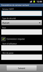 Samsung I8160 Galaxy Ace II - E-mail - Configuration manuelle - Étape 11