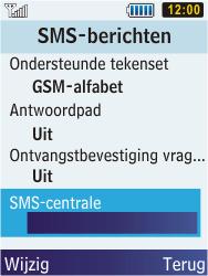 Samsung C3350 Xcover 2 - SMS - handmatig instellen - Stap 6