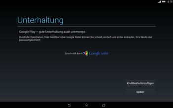 Sony Xperia Tablet Z2 LTE - Apps - Einrichten des App Stores - Schritt 22