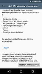 Sony Xperia X Compact - Gerät - Zurücksetzen auf die Werkseinstellungen - Schritt 6