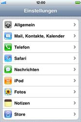 Apple iPhone 3G - Fehlerbehebung - Handy zurücksetzen - Schritt 5