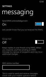 Nokia Lumia 635 - SMS - Manual configuration - Step 6