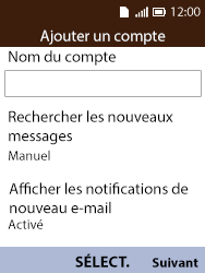 Alcatel 3088X - E-mails - Ajouter ou modifier votre compte Yahoo - Étape 8