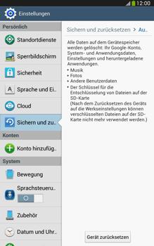 Samsung Galaxy Tab 3 8-0 LTE - Gerät - Zurücksetzen auf die Werkseinstellungen - Schritt 6
