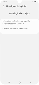 Samsung Galaxy A40 - Aller plus loin - Mettre à jour le logiciel interne de votre mobile - Étape 8