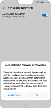 Huawei P20 Lite - Netzwerk - Manuelle Netzwerkwahl - Schritt 7