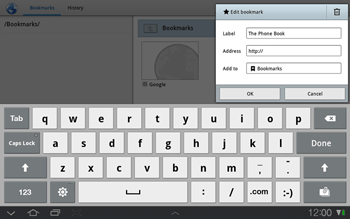 Samsung P7500 Galaxy Tab 10-1 - Internet - Internet browsing - Step 8