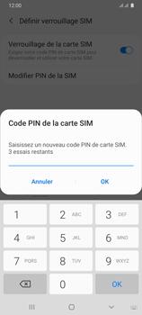Samsung Galaxy A31 - Sécuriser votre mobile - Personnaliser le code PIN de votre carte SIM - Étape 10