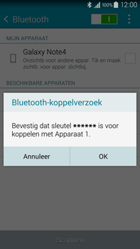 Samsung Galaxy Note 4 4G (SM-N910F) - Bluetooth - Headset, carkit verbinding - Stap 7