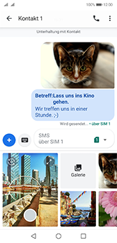 Huawei P20 - Android Pie - MMS - Erstellen und senden - Schritt 22