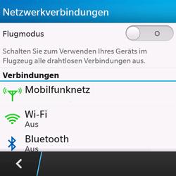 BlackBerry Q10 - Netzwerk - Manuelle Netzwerkwahl - Schritt 5