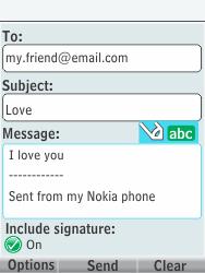 Nokia 301-1 - E-mail - Sending emails - Step 12