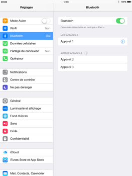 Apple iPad Mini 2 iOS 8 - Bluetooth - connexion Bluetooth - Étape 9