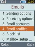 Samsung B2100 Xplorer - E-mail - Manual configuration - Step 6
