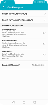 Huawei Honor Play - Anrufe - Anrufe blockieren - Schritt 6