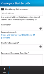 BlackBerry Z10 - Applications - Setting up the application store - Step 10
