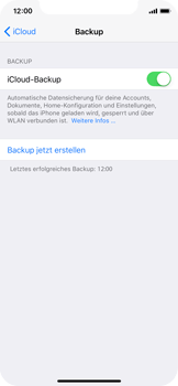 Apple iPhone X - Software - Eine iCloud-Sicherheitskopie erstellen und an ein neues Gerät übertragen - 9 / 10