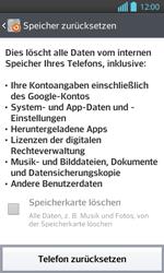 LG P710 Optimus L7 II - Fehlerbehebung - Handy zurücksetzen - Schritt 8