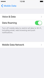 Apple iPhone 5s iOS 10 - Internet and data roaming - Disabling data roaming - Step 5