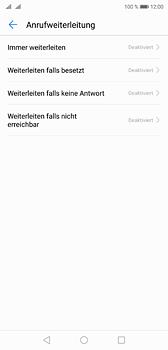 Huawei P20 - Anrufe - Rufumleitungen setzen und löschen - 6 / 9