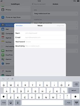 Apple iPad Pro 10.5 inch - iOS 11 - E-mail - Account instellen (POP3 met SMTP-verificatie) - Stap 7