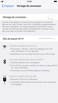 Apple iPhone 6 Plus - iOS 11 - Internet et connexion - Partager votre connexion en Wi-Fi - Étape 6