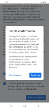 Samsung Galaxy S20 - Applications - Créer un compte - Étape 18