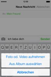 Apple iPhone 4 S mit iOS 7 - MMS - Erstellen und senden - Schritt 11