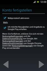 Sony Xperia E - Apps - Konto anlegen und einrichten - 13 / 17