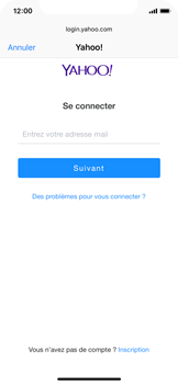Apple iPhone XS - E-mail - Configuration manuelle (yahoo) - Étape 7