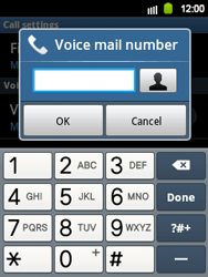 Samsung S5360 Galaxy Y - Voicemail - Manual configuration - Step 6