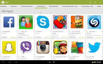 Sony Xperia Tablet Z LTE - Apps - Herunterladen - 8 / 21