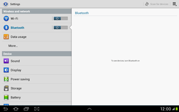 Samsung Galaxy Tab 2 10.1 - Bluetooth - Connecting devices - Step 5