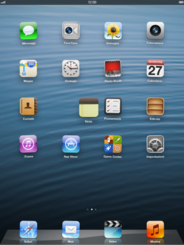 Apple iPad Retina - Operazioni iniziali - Personalizzazione della schermata iniziale - Fase 3