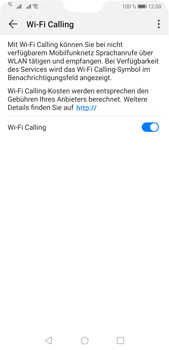 Huawei P20 Pro - Android Pie - WiFi - WiFi Calling aktivieren - Schritt 9