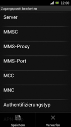 Sony Ericsson Xperia Ray mit OS 4 ICS - MMS - Manuelle Konfiguration - 14 / 17