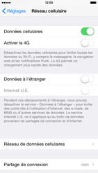 Apple iPhone 6 iOS 8 - Internet et roaming de données - Désactivation du roaming de données - Étape 5